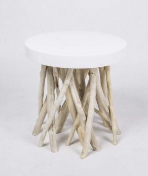 Beistelltisch aus Kunststoff/Holz