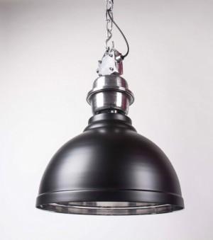 Pendelleuchte Anthrazit im Industriedesign, Hängeleuchte Anthrazit, Durchmesser 35 cm