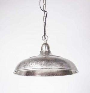 Pendelleuchte Farbe Silber-Aluminium, Hängeleuchte, Hängelampe Ø 35 cm