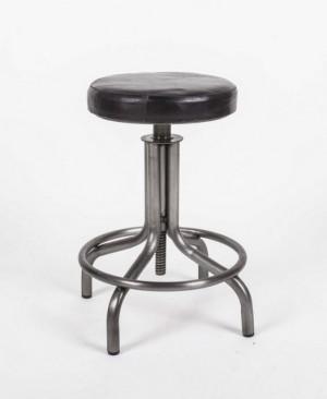 Hocker verstellbar im Industriedesign, Sitzhöhe 51-75 cm