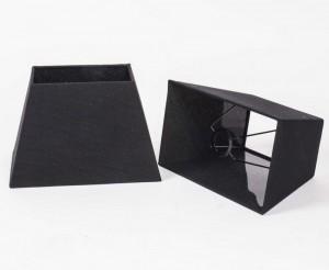 Lampenschirm schwarz rechteckig,  Maße 18 x 30 cm