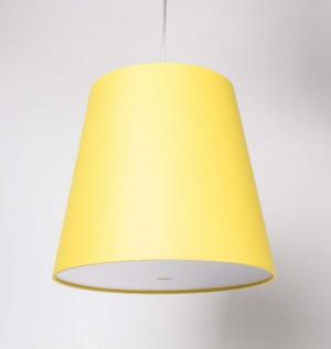 Pendelleuchte, Lampenschirm gelb, moderne Pendellampe in sechs verschiedenen Farben, Ø 33 cm