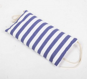 Nackenkissen blau-weiß gestreift für Liegestuhl, Nackenkissen 100 % Baumwolle