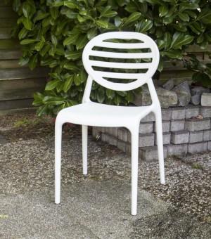 Outdoor Stuhl Kunststoff Weiß