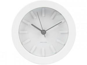 Wecker Uhr weiß Gehäuse weiß Ø 11 cm