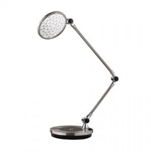 Tischleuchte Metall chrom nickel LED