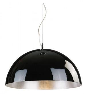 Moderne Pendelleuchte Kuppel,  in Farbe Schwarz-Silber, Durchmesser 120 cm