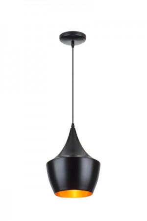 Hängeleuchte Farbe Schwarz-Gold, Pendelleuchte, Durchmesser 24 cm