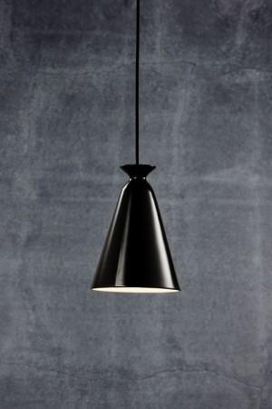 Moderne Pendelleuchte, Hängeleuchte, Farbe schwarz glänzend,  Ø 16,5 cm