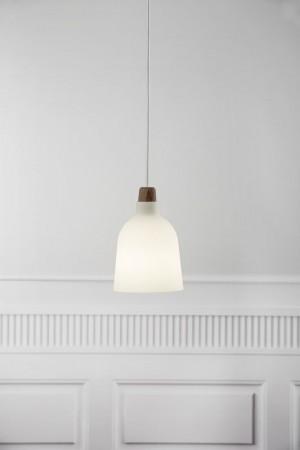 Moderne Pendelleuchte, Hängeleuchte, Farbe beige/ sand, braun, Ø 14 cm