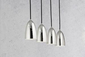 LED Moderne Pendelleuchte, Hängeleuchte, Farbe chrom
