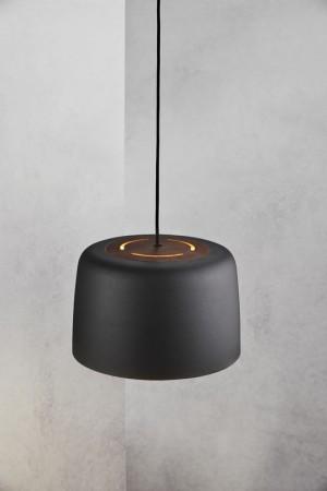 Moderne Pendelleuchte, Hängeleuchte, Farbe schwarz, Ø 31 cm
