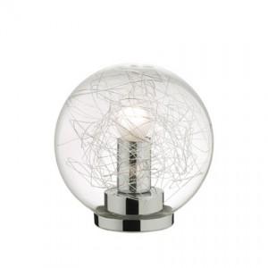 Tisch-/Bodenleuchte  Metall chrom Glas transparent Aludraht
