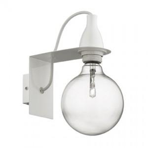 Wandleuchte Metall weiß, Halogenlampe, Kabel