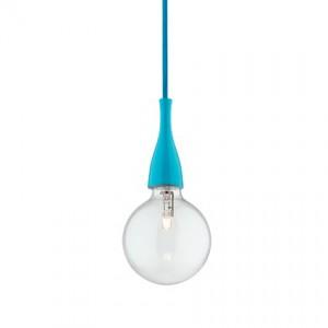 Pendelleuchte Metall blau, Halogenlampe, 2-Meter-Kabel