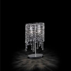 Tischleuchte Metall chrom, Kristall transparent