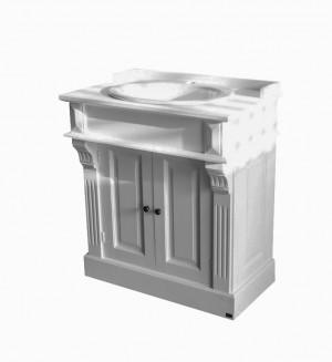 Waschtisch weiß im Landhausstil, Badmöbel klassisch
