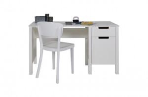 Schreibtisch weiß, Schreibtisch Massivholz weiß, Tisch weiß Holz
