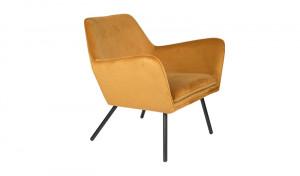Sessel gold Metallgestell schwarz mit Armlehne, Sitzhöhe 42 cm