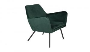 Sessel grün Metallgestell schwarz mit Armlehne, Sitzhöhe 42 cm
