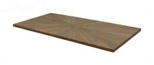 Tischplatte Eiche furniert, Tischplatte braun 220 cm