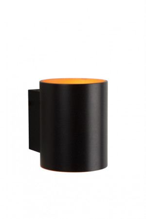 Wandlampe schwarz, Ø 8 cm, 1xG9