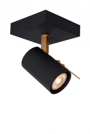 Wandstrahler schwarz, LED DIM. (warm), GU10