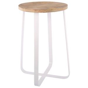 Barhocker weiß Industriedesign, Barhocker Metall Industrie weiß, Sitzhöhe 58 cm