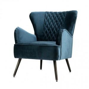 Sessel blau, Sessel mit Armlehne blau, Retro-Sessel blau