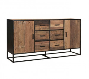 Sideboard Industriedesign, Sideboard Metall-Gestell, Schrank Industrie, Breite 180 cm