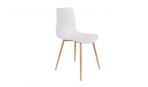Stuhl weiß, Stuhlbeine natur (Metall)