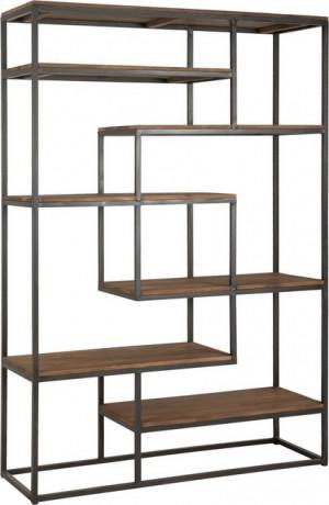 Regal Industriedesign, Bücherregal Metall Holz, Metallregal Industrie,  Breite 120 cm