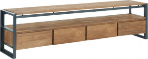 Lowboard mit Schubladen Industriedesign, Fernsehregal Industriedesign, TV Regal Industriedesign, Breite 250 cm