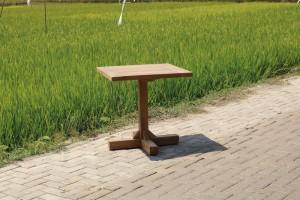 Bistrotisch Teakholz, Tisch quadratisch Teak, Bistrotisch Holz Teak, Maße 75x75 cm