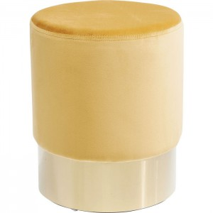 Hocker rund gelb, Hocker gelb rund, Sitzhöhe 42 cm