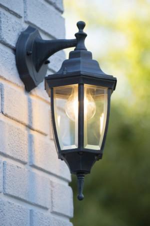 Außenleuchte grün-grau, Wandleuchte Landhausstil,  Wandlampe Außenbeleuchtung