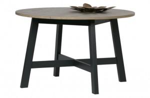 Esstisch schwarz Massivholz, Tisch schwarz Holz, Tisch rund schwarz, Durchmesser 120 cm