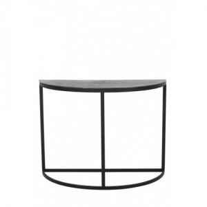 Wandtisch halbrund Metall, Metall Konsole Industrie, Breite 100 cm