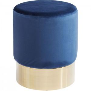 Hocker rund blau, Hocker blau rund, Sitzhöhe 42 cm