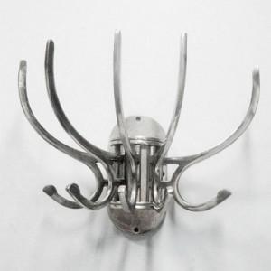 Wandgarderobe Antik-Silber Landhaus, Garderobe Landhaus Silber