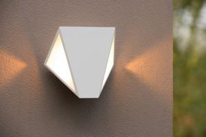 LED Außenleuchte weiß, LED Wandleuchte weiß Landhausstil,  LED Wandlampe weiß Außenbeleuchtung