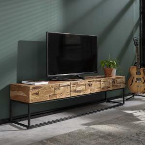 TV Schrank mit drei Schubladen, Fernsehschrank Industriedesign, Breite 180 cm
