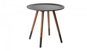 Beistelltisch rund, Beistelltisch grau, Durchmesser 48 cm