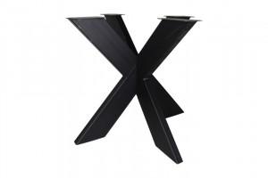 Tischgestell schwarz Metall Industriedesign, Metall Tischgestell für Esstisch Industrie Metall, Breite 80 cm