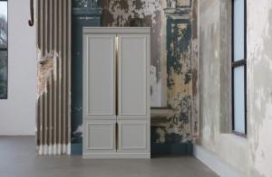 Schrank weiß Massivholz, Bücherschrank weiß, Büroschrank weiß,  Breite 110 cm