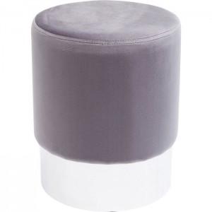 Hocker rund grau, Hocker grau rund, Sitzhöhe 42 cm