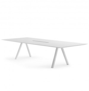 Tisch weiß , Esstisch weiß, Konferenztisch weiß, Länge 240 cm