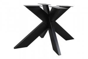 Tischgestell schwarz Metall Industriedesign, Metall Tischgestell für Esstisch Industrie Metall