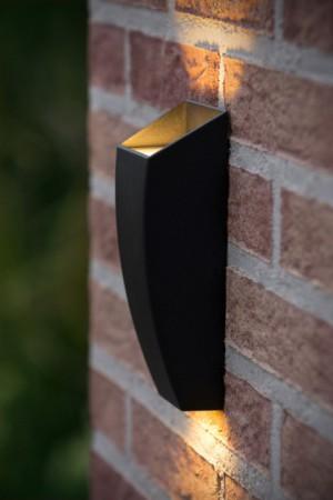 LED Wandleuchte schwarz, LED Wandlampe schwarz, LED Außenleuchte schwarz