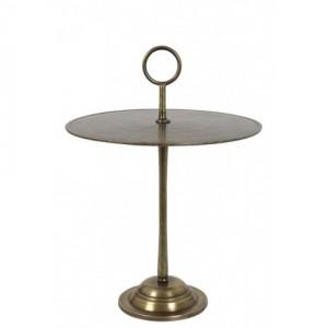 Beistelltisch rund, runder Beistelltisch Bronze, Metall Beistelltisch rund, Durchmesser 50 cm